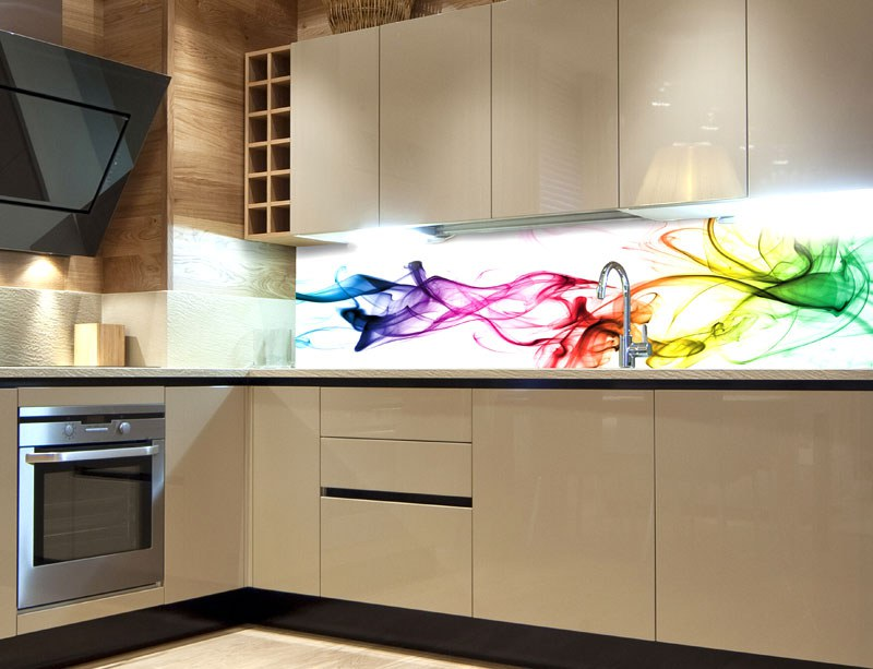 Fototapeta do kuchyně Barevný kouř KI-260-073, 260x60 cm - Samolepící fototapety