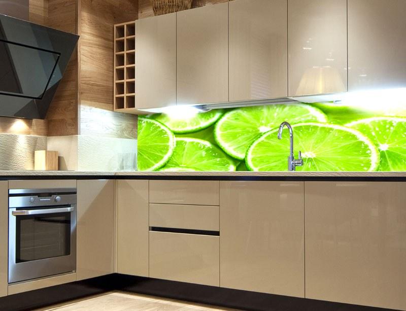 Fototapeta do kuchyně Limetka KI-260-074, 260x60 cm - Samolepící fototapety
