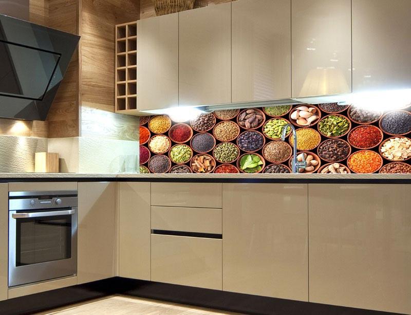 Fototapeta do kuchyně Misky s kořením KI-260-075, 260x60 cm - Samolepící fototapety