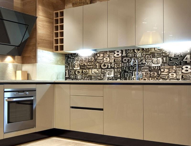 Fototapeta do kuchyně Číslice KI-260-077, 260x60 cm - Samolepící fototapety
