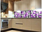 Fototapeta do kuchyně Kovové kachličky KI-260-078, 260x60 cm Samolepící fototapety