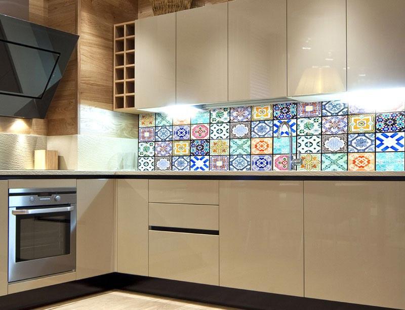Fototapeta do kuchyně Starobylé kachličky KI-260-079, 260x60 cm - Samolepící fototapety