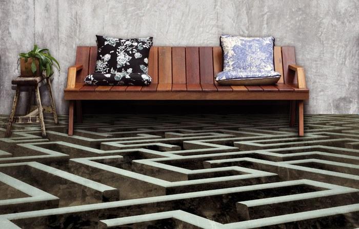 Samolepicí fototapeta na podlahu Labyrint FL-255-019, 255x170 cm - Na podlahu