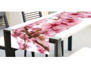 Ubrus-běhoun na stůl Květy jabloně TS-012, 40x140 cm Ubrusy