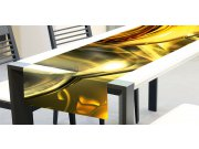 Ubrus-běhoun na stůl Zlatý abstrakt TS-018, 40x140 cm Ubrusy