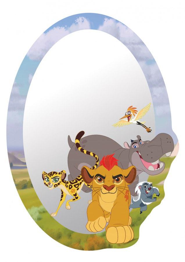 Dekorace zrcadlo Lví Král DM-2120, 15x22 cm - Dětské dekorace na zeď