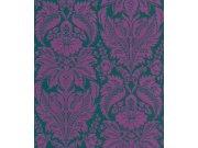 Luxusní tapety na zeď Etro ornamenty fialovo zelené 517644 Tapety Rasch - Tapety Etro