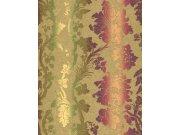 Luxusní tapety na zeď Etro ornamenty khaki fialové 517828 Tapety Rasch - Tapety Etro