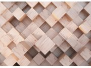 Vliesová fototapeta na zeď Abstrakce dřevěné kostky FTNXXL-2496 Fototapety vliesové