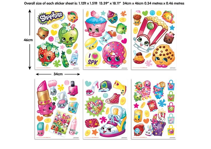 Samolepicí dekorace Walltastic Shopkins 44227 - Dětské samolepky na zeď