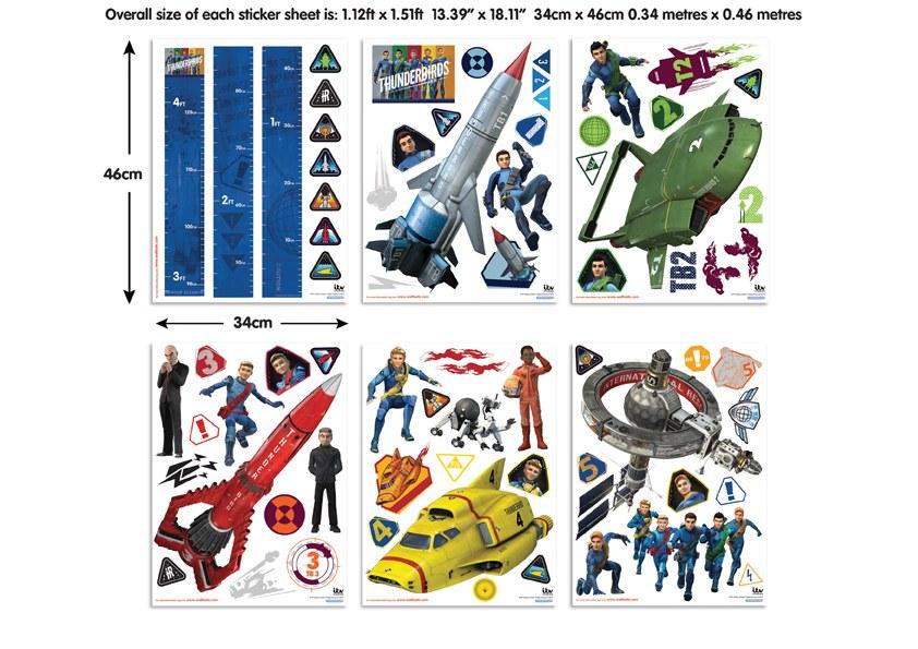 Samolepicí dekorace Walltastic Thunderbirds 43749 - Dětské samolepky na zeď