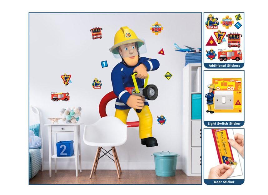 Samolepicí dekorace Walltastic Požárník Sam 44333 - Dětské samolepky na zeď