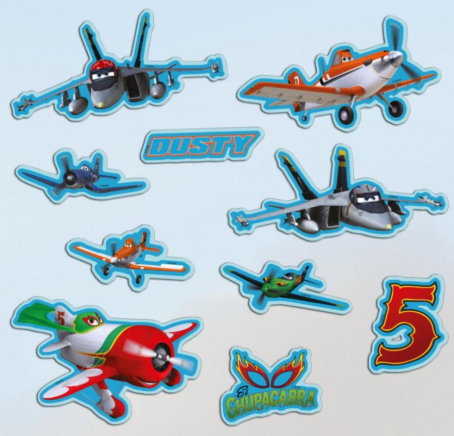 Samolepicí dekorace Planes 70270 - Dětské dekorace na zeď