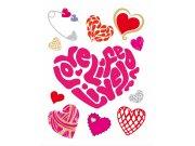 Samolepicí dekorace srdce D9380 Samolepící dekorace na zeď