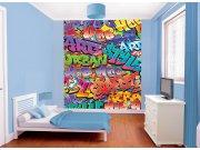 3D fototapeta Walltastic Graffiti 42827 | 203x243cm Fototapety pro děti