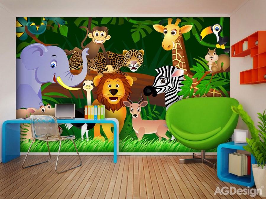 Fototapeta AG Zvířátka FTS-1307 | 360x254 cm - Fototapety na zeď