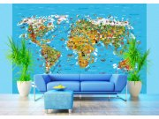 Fototapeta AG Mapa Světa FTS-1320 | 360x254 cm Fototapety na zeď