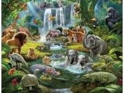 3D fototapeta Walltastic Jungle 46481 | 305x244 cm Fototapety pro děti