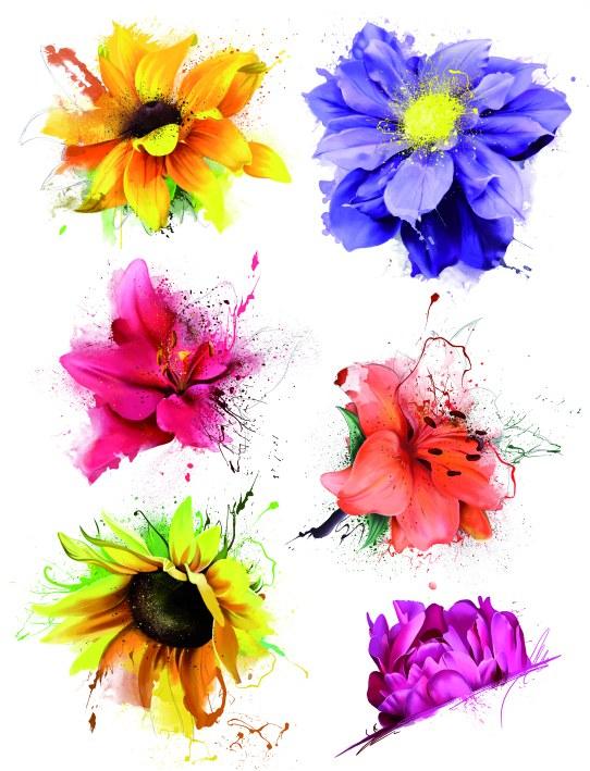 Samolepky na zeď Květiny F1058 - Samolepící dekorace na zeď