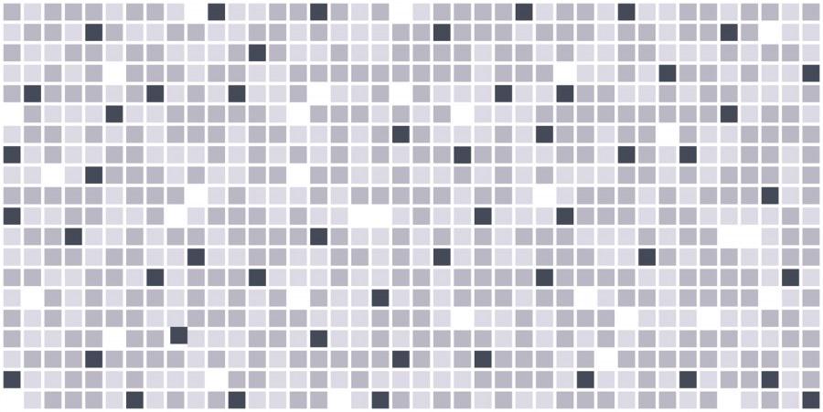 3D obkladový PVC panel mozaika šedá - Obkladové 3D panely