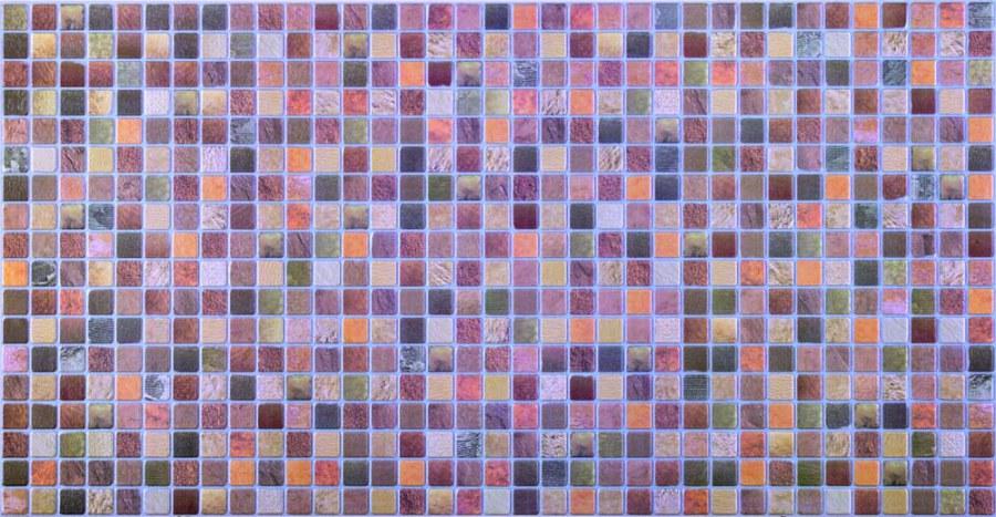 3D obkladový PVC panel mozaika hnědá - Obkladové 3D panely