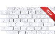 3D obkladový PVC panel bílá cihlová zeď Obkladové 3D panely