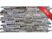 3D obkladový PVC panel imitace kamenné zdi hnědošedá D0026 Obkladové 3D panely