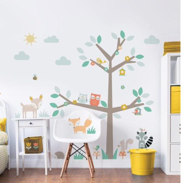 Samolepicí dekorace Walltastic Barevný strom 44647 - Dětské samolepky na zeď