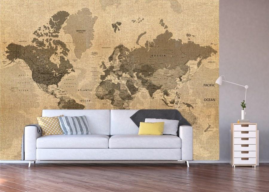 Fototapeta Historická mapa světa FTNXXL-1215 - Vliesové fototapety AG