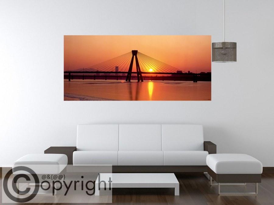 Vliesová fototapeta AG Zlatý most FTNH-0952 | 202x90 cm - Fototapety vliesové