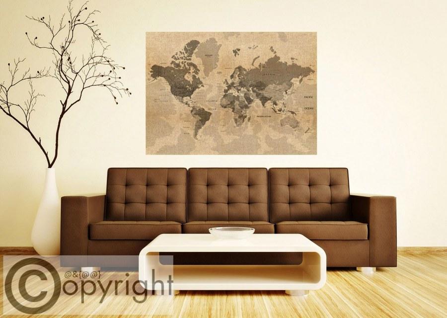 Fototapeta AG Stará mapa světa FTNM-2683 - Fototapety na zeď