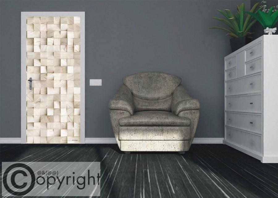 Vliesová fototapeta 3D dřevo FTNV-2936 | 90x202 cm - Fototapety na dveře