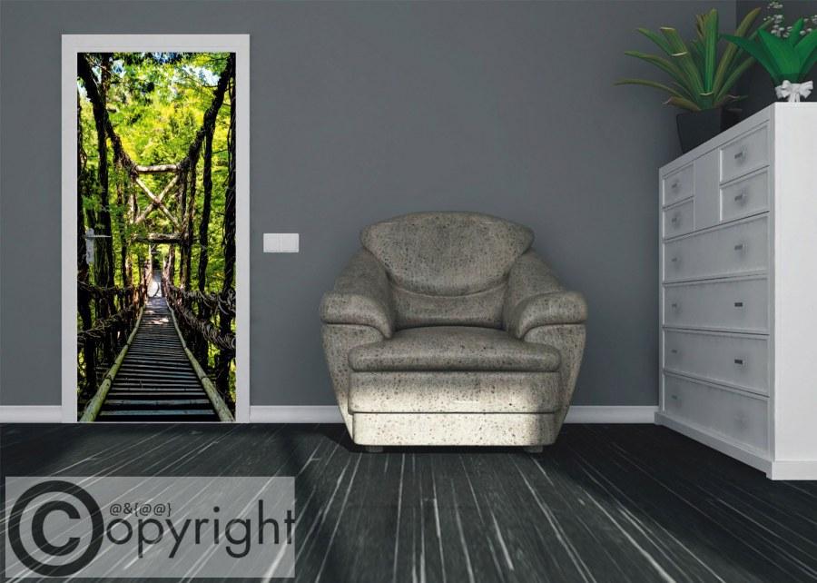 Vliesová fototapeta Lesní most FTNV-2937 | 90x202 cm - Fototapety na dveře