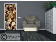 Vliesová fototapeta 3D bronzové jehlany FTNV-2939 | 90x202 cm Fototapety na dveře