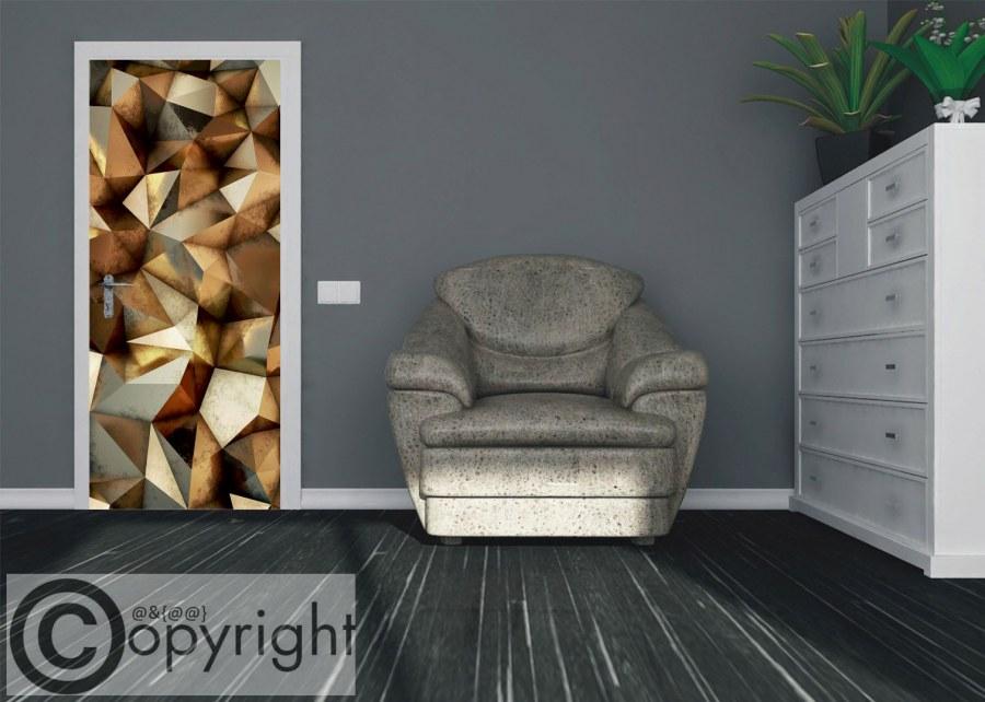 Vliesová fototapeta 3D bronzové jehlany FTNV-2939 | 90x202 cm - Vliesové fototapety AG
