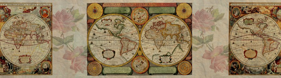 Samolepící bordura Stará mapa WB8220 - Samolepící bordury