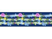 Samolepící bordura Květiny WB8237 Samolepící bordury