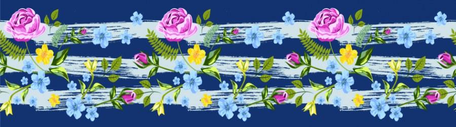 Samolepící bordura Květiny WB8237 - Samolepící bordury