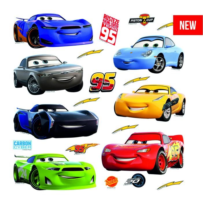 Samolepicí dekorace Cars DKS-3803, 30x30 cm - Dětské samolepky na zeď