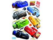 Samolepicí dekorace Cars auta DK-2310, 85x65 cm Dětské samolepky na zeď