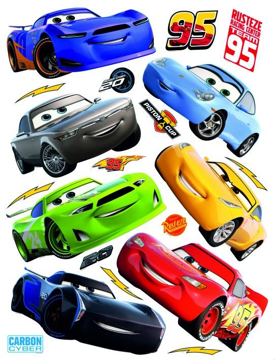 Samolepicí dekorace Cars auta DK-2310, 85x65 cm - Dětské samolepky na zeď