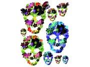 Samolepky na zeď Květinové masky F1060 Samolepící dekorace na zeď