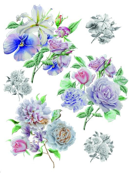 Samolepky na zeď Květiny F1064 - Samolepící dekorace na zeď