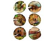 Samolepky na zeď Města v polenech F1067 Samolepící dekorace na zeď
