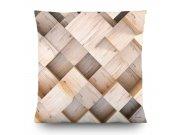 Dekorativní polštář 3D dřevo CN-3607, 45 x 45 cm Dekorativní polštáře