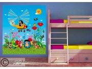 Fototapeta vliesová Krtek a vrtulník FTDNXL-5145 | 180x202 cm Fototapety pro děti