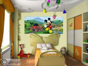 Vliesová fototapeta Mickey Mouse FTDNH-5375 | 202x90 cm Fototapety pro děti