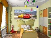 Vliesová fototapeta Cars FTDNH-5377 | 202x90 cm Fototapety pro děti