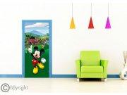 Vliesová fototapeta Mickey Mouse FTDNV-5480 | 90x202 cm Fototapety pro děti