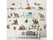 Samolepicí dekorace Walltastic Safari 45439 Dětské dekorace na zeď